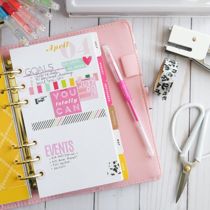 new Heidi Swapp Class : DIY Planner Dashboards by Jamie Pate | @jamiepate for @heidiswapp