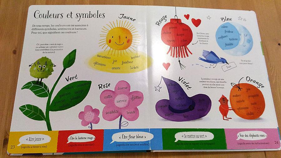 Le grand livre des couleurs-éditions usborne