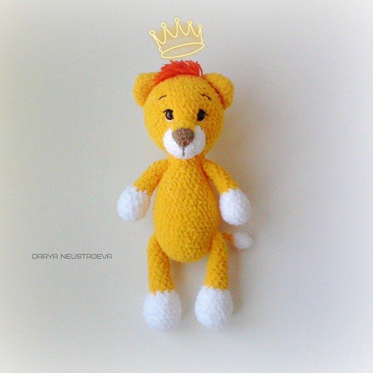 Crochet baby lion amigurumi