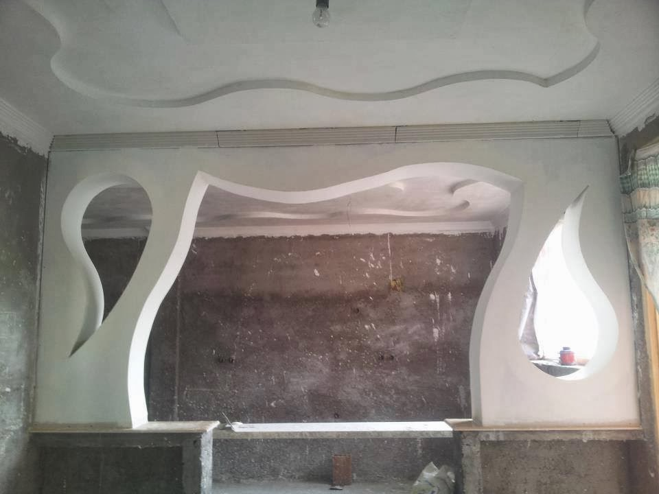 Arches platre platre for Plafond en platre pour salon