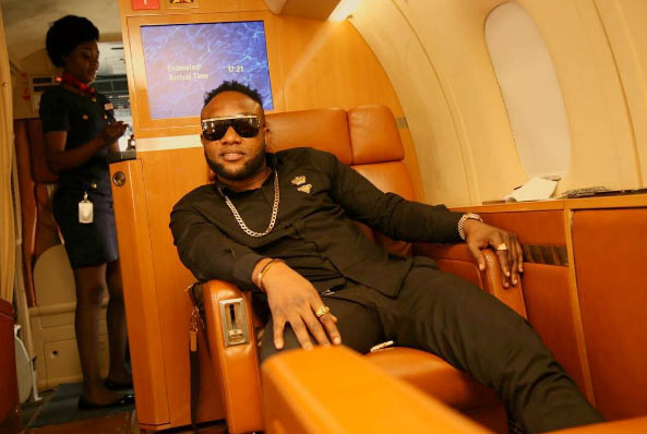 Singer Kcee poses in private jet, drops New Year prayer for fans