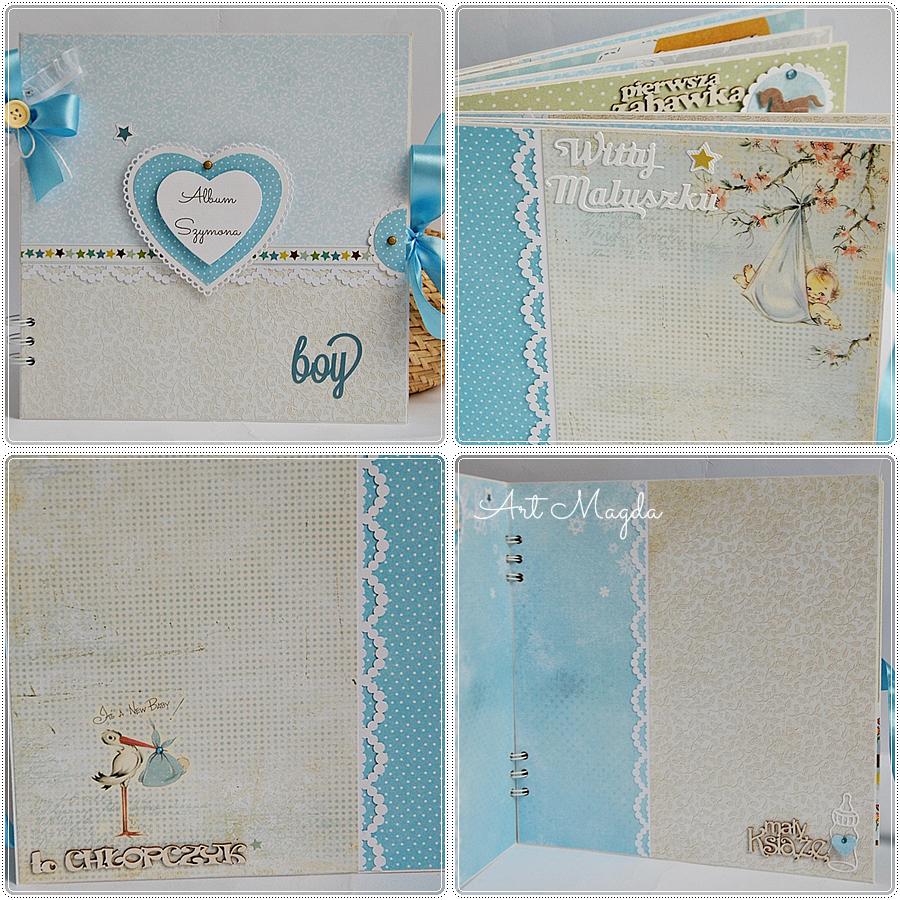 album handmade, ArtMagda, roczek dziecka, ręcznie robiony