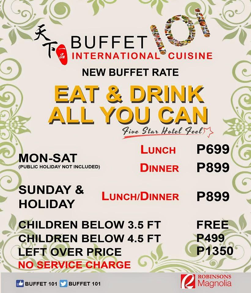 manila shopper buffet 101 graduation lunch buffet promo mar may 2015 rh manilashopper com
