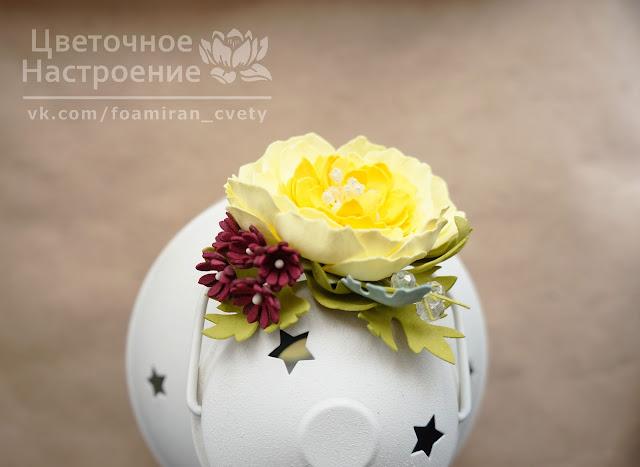 цветы из фоамирана для волос