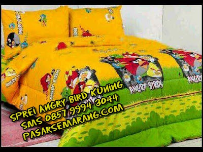 Jual Sprei Gorden BedCOver Motif Angry Bird Kuning