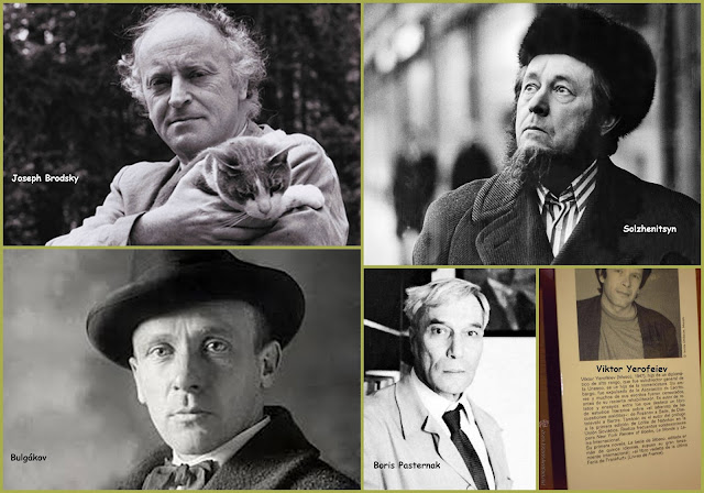 Joseph Brodsky, Boris Pasternak, Solzhenitsyn, Bulgákov, Viktor Yeroféiev