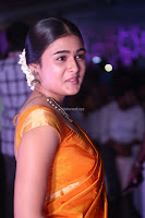 Shalini Pandey in Beautiful Orange Saree Sleeveless Blouse Choli ~  Exclusive Celebrities Galleries 003.JPG