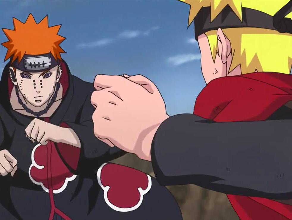 Naruto vs Pain Nagato FRASES Naruto Datos