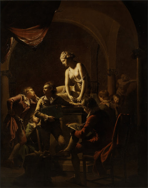 Academy by Lamplight by Joseph Wright of Derby (1770)
