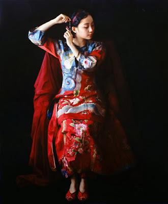 geisha-mujer-china-cuadros-zhao-kailin