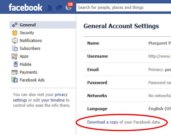 Image result for facebook backup