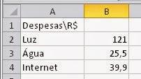 Como fazer números do Excel serem valores em reais, dinheiro