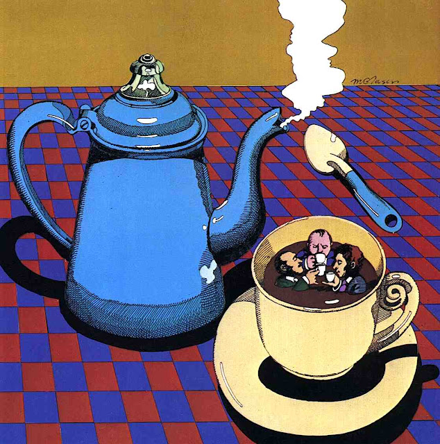 Milton Glaser coffee drinkers