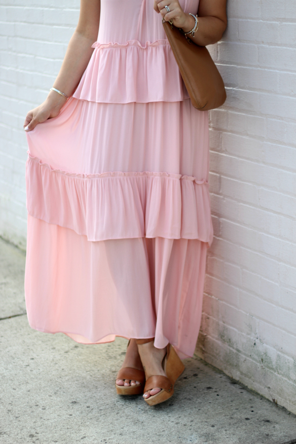 loft tiered maxi dress, style on a budget, north carolina blogger, mom style