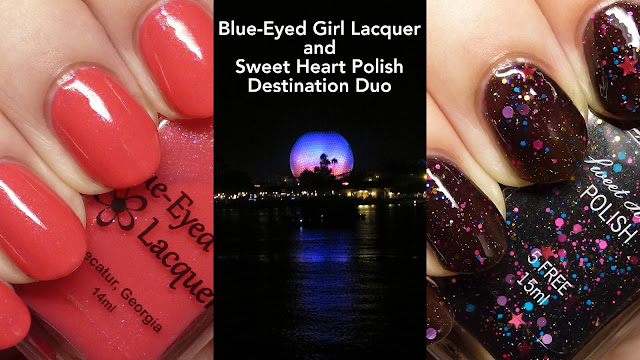 Blue-Eyed Girl Lacquer and Sweet Heart Polish Destination Duo