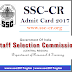 www.ssc-cr.org - SSC-CR Admit Card 2017 | SSC CR Exam Hall Ticket Download
