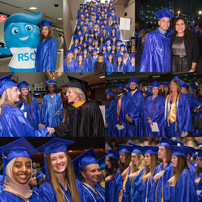 Collage of images from graduation ceremony