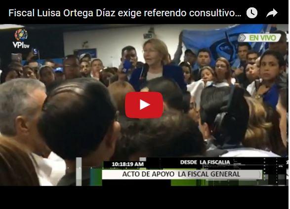 Todos los fiscales del Ministerio Público apoyan a Luisa Ortega Díaz