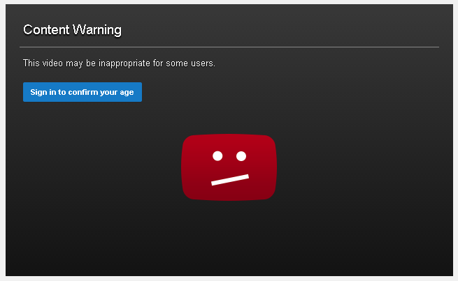content warning in youtube site