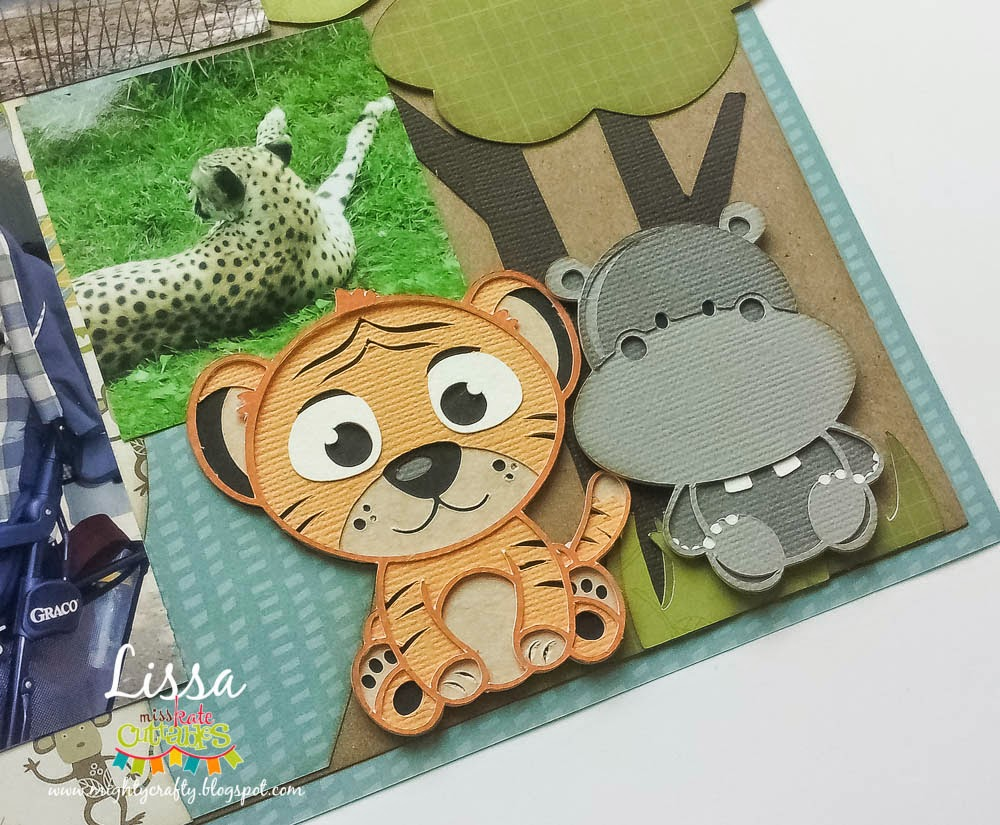 Zoo Fun layout for Miss Kate Cuttables -- www.MightyCrafty.me