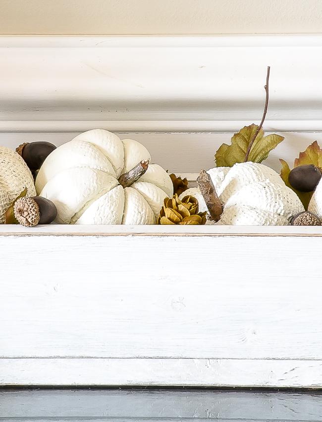 Decorating with Dollar Tree pumpkins