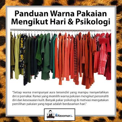 panduan warna pakaian mengikut hari dan psikologi, panduan, tips, warna pakaian, aura pemakai, panduan warna