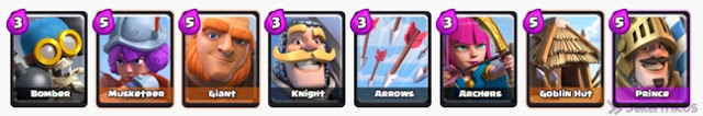 deck arena 1 clash royale