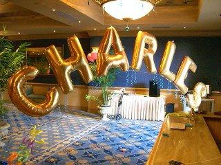 balon huruf juga merupak variasi dekorasi ulang tahun yang wajib ada