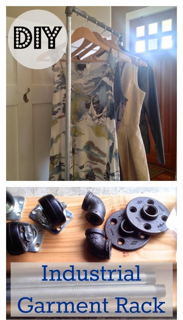 her lovely nest.: diy industrial garment rack - tutorial.