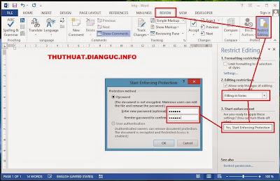 Hướng dẫn chống copy, chỉnh sửa file word 2003 2007 2010 2013