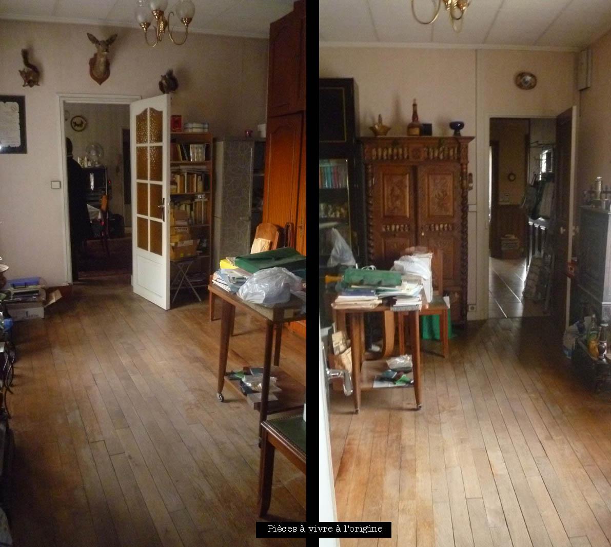 The maison photos avant apr s la pi ce vivre - Photo maison renovee avant apres ...