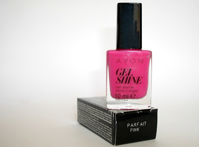 Avon GEL SHINE nail polish in Parfait Pink, review and swatches