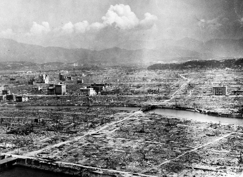 Hiroshima, tras la devastación, 6 de agosto de 1945.