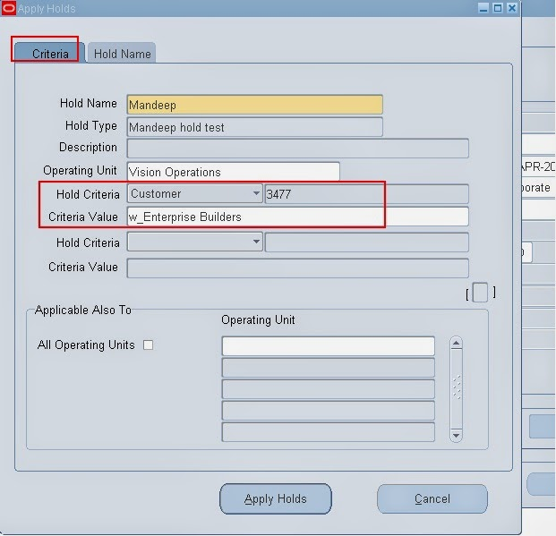 How to Apply and Remove a Hold Source |Simplifying Oracle E