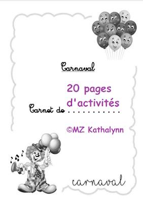 Dossier d'activités pour petits et grands sur le thème du carnaval (clown)