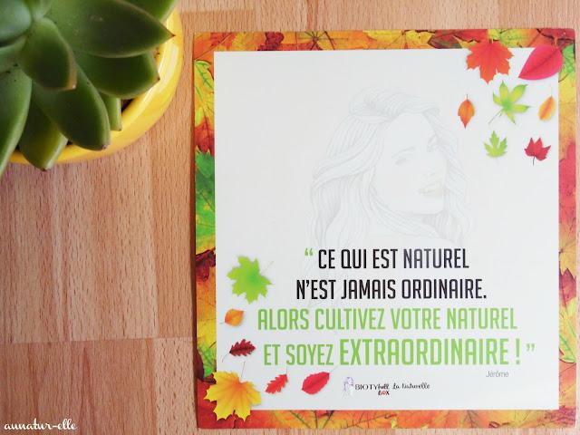 La Biotyfull box de Septembre : une box 100% naturelle