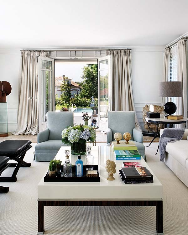 Ida Coffee Tables High Gloss White With Grey Pull Out: Alison Giese Interiors: Werkin' It: A Crisp Living Room