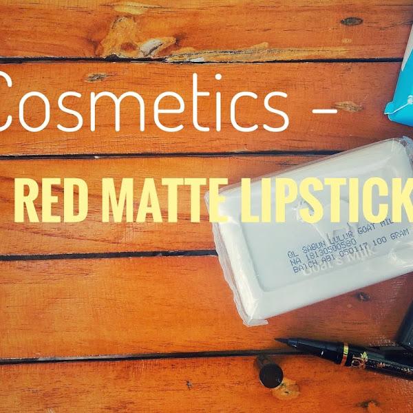 [Review] QL Cosmetics - Russian Red Matte Lipstick