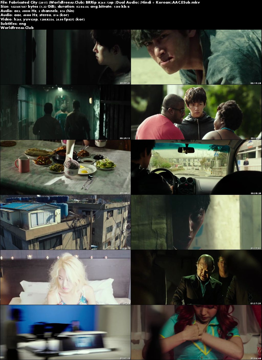 Screen Shoot of Fabricated City 2017 BRRip 720p Dual Audio In Hindi Korean ESub