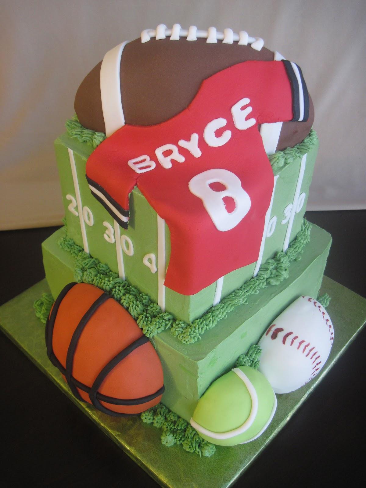 Storybook Bakery Blog Football Amp Sports Birthday Cake