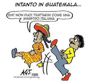 sguattera del guatemala, guidi, intercettazioni, trivellopoli, vignetta, satira