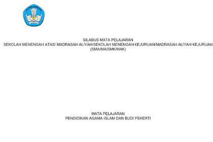 Silabus PAI SMA Kurikulum 2013 Revisi 2017 pdf
