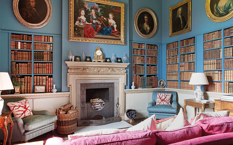 The Library, Linley Hall, Shropshire