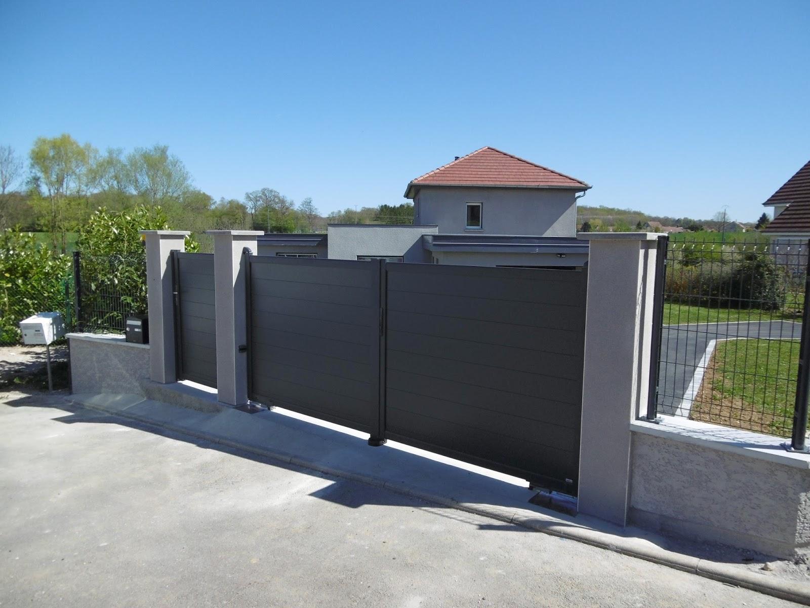 hervier paysages portail archachon sur motorisation encastr e. Black Bedroom Furniture Sets. Home Design Ideas