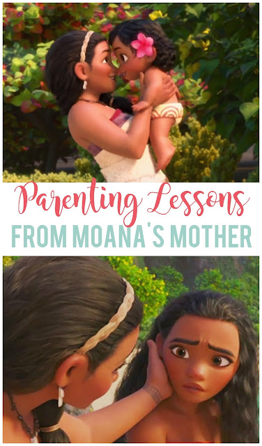 Moana's mother teaches important lessons on how to love, teach and let our children grow