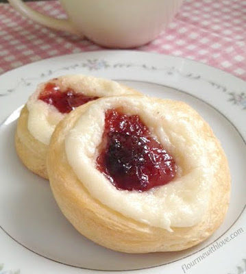 Simple ingredients turned into a delicious Strawberry & Cheese Danish!