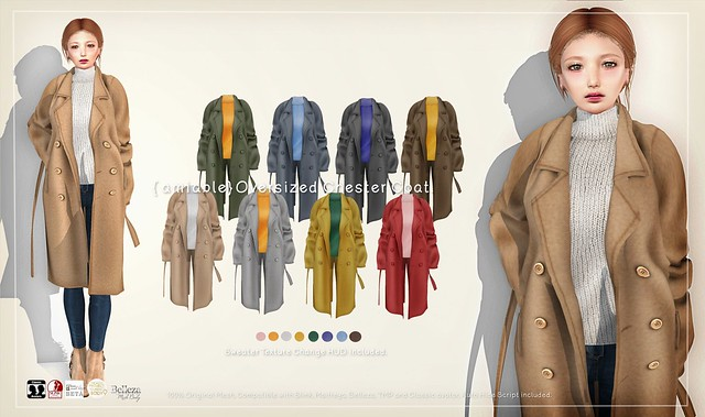 {amiable}Oversized Chester Coat@Collabor88 February(Special Price).