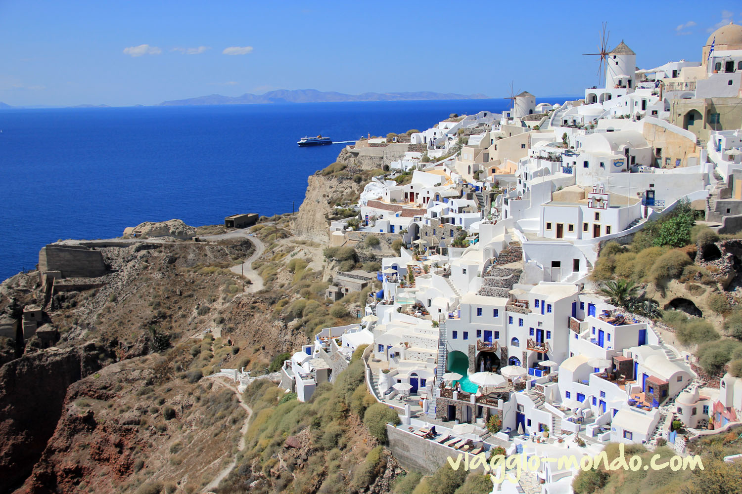 Santorini - Greece city sea