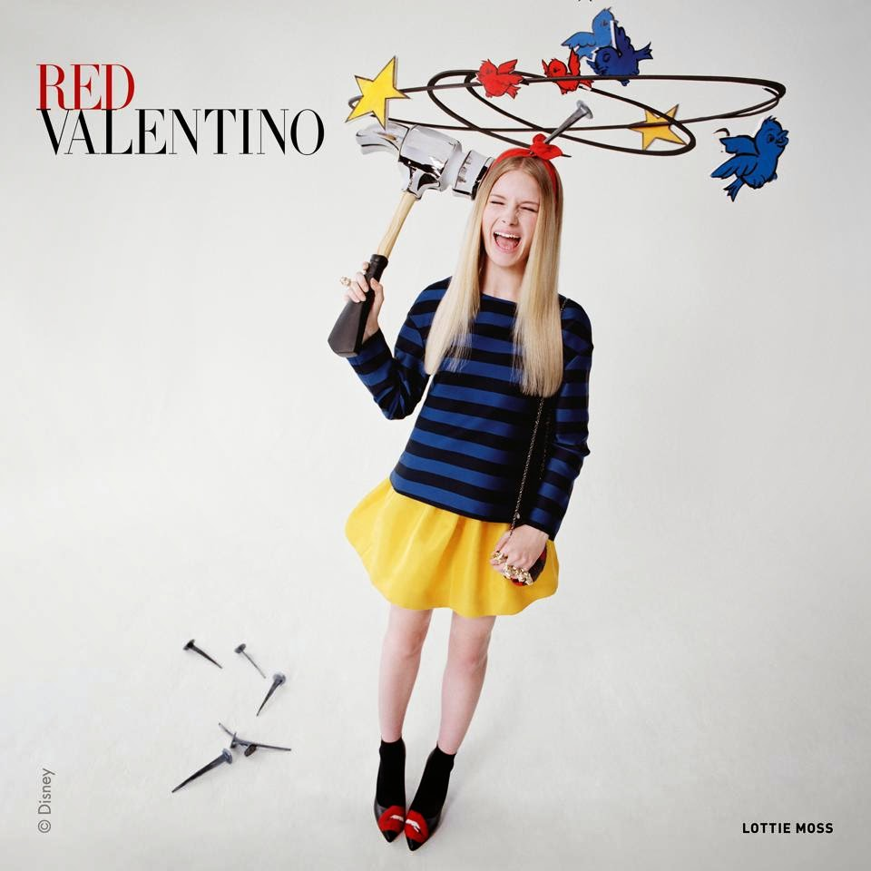 Red Valentino Fall/Winter 2014 Campaign featuring Lottie Moss