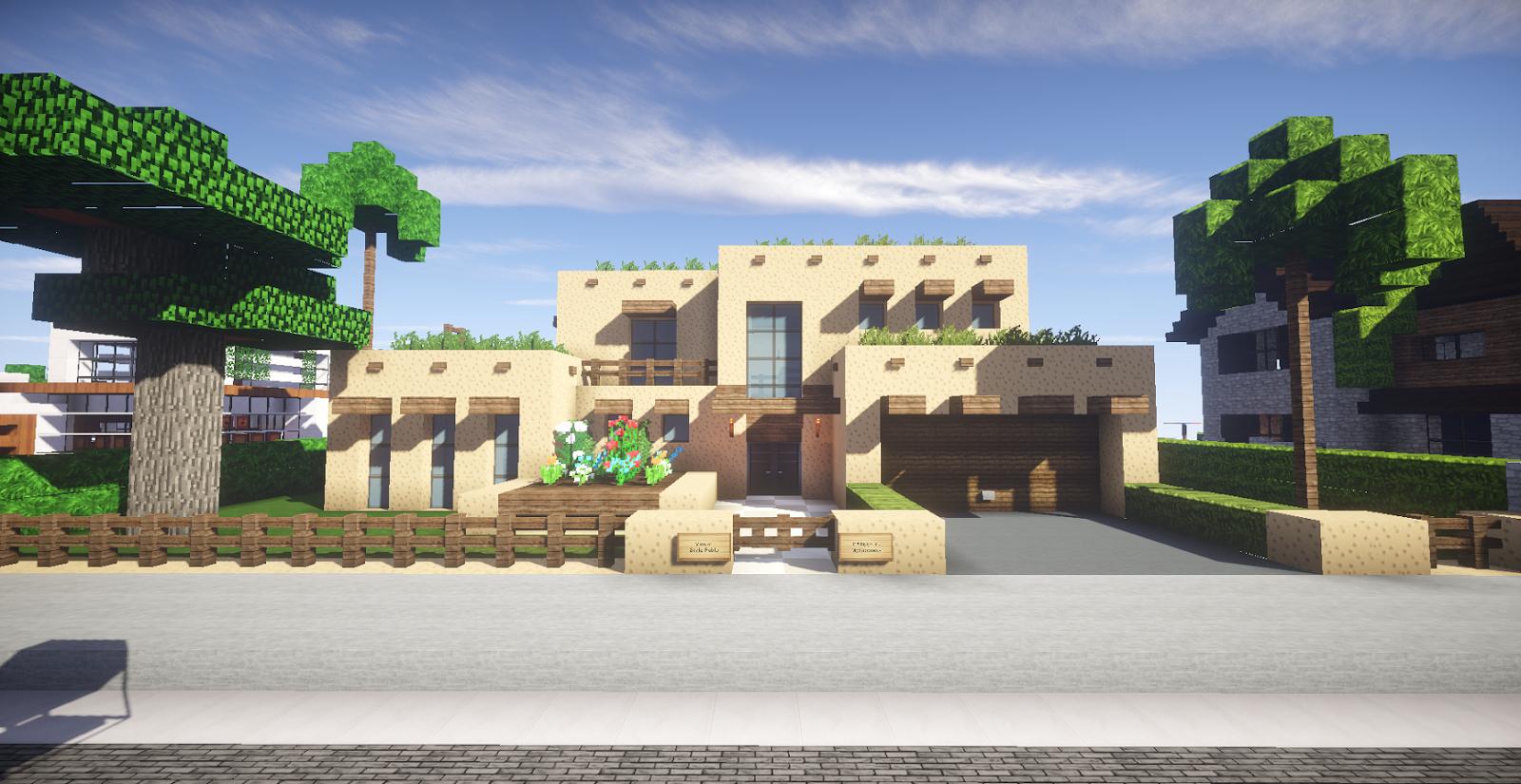 Plan Maison Pueblo Style Nouveau Mexique Minecraft